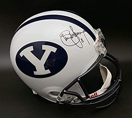 027b18cec Image Unavailable. Image not available for. Color  Steve Young Autographed  Signed Brigham Young University F S Helmet Itp Memorabilia PSA DNA