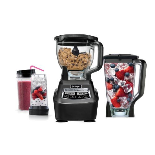 Ninja Mega Kitchen System (BL770) Blender/Food Processor with 1500W Auto-iQ Base, 72oz Pitcher, 64oz Processor Bowl, (2) 16oz Cup for Smoothies, Dough & - Ninja Blender Professional