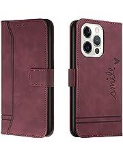Hoesje voor iPhone 13/13 Pro 6.1inch Wallet Book Case, Magneet Flip Wallet Beschermende Telefoonhoes met Kaarthouders slots schokbestendige For iPhone 13/13 Pro -