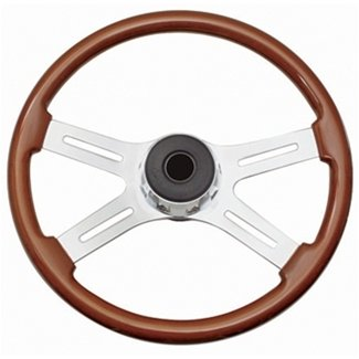 4 spoke wood grain steering wheel - 3