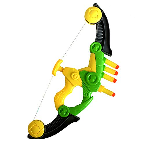 WenToyce Soft Arrow Bow Set for Kids, Foam Beginner Archery Kit for Starters, with 4 Darts Suction Cup Arrows, -