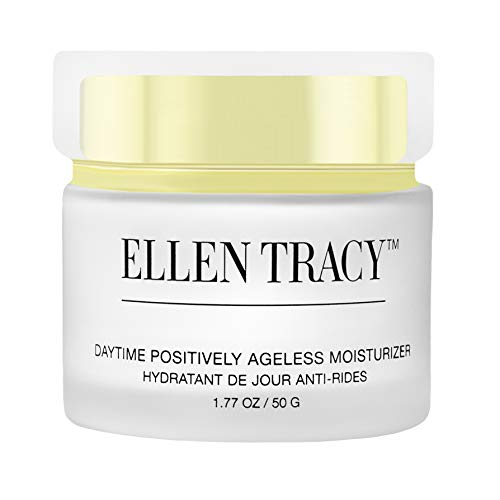 - Ellen Tracy Daytime Positively Ageless Moisturizer for Face and Neck Anti-Aging Face Cream for Wrinkles Fine Lines Age Spots Skin Tone Firming Dark Circles, Moisturizing, Hydrating Day Cream, 1.77 OZ