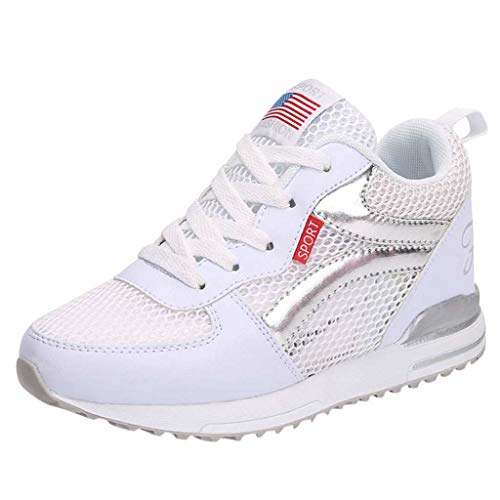 (OrchidAmor Women's Fashion Casual Mesh Breathable Increasing Sport Running Shoes Sneakers 2019 Summer Fashion Sneaker White)