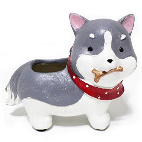 Animales Dibujos Animados resina macetas Akita Perro Husky de ...