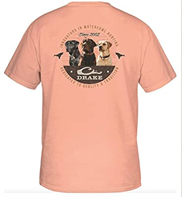 Drake Waterfowl Men's Three Amigos Short Sleeve T-Shirt, Melon
