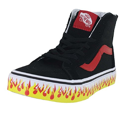 Camionnettes zip Hohe Noire Rouge Baskets Unisexe Kinder Flamme hi Sk8 qqwTZaP