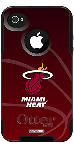 ies Cell Phone Case for iPhone 4s/4 - Retail Packaging - Miami Heat - bball Design ()