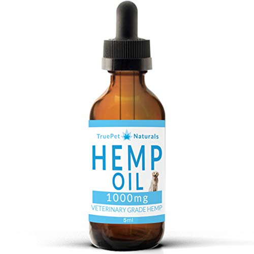 Hemp Oil for Dogs 1000mg - Veterinary Grade Pain and Anxiety Relief - Dog and Cat Pure Organic Full Spectrum Extract - Pets Composure Natural Joint Support Calming Stress and Sleep Drops (5ml)