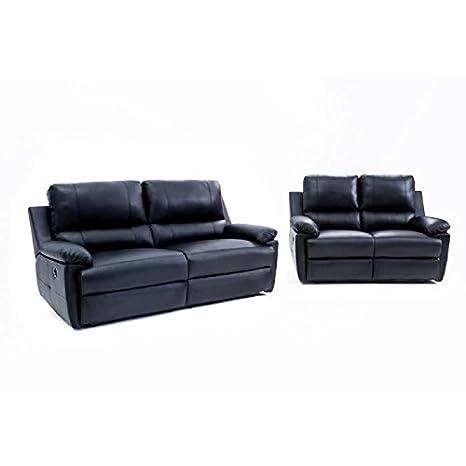 Evasion Conjunto de 2 sofás de relajación eléctrico Piel: 1 ...