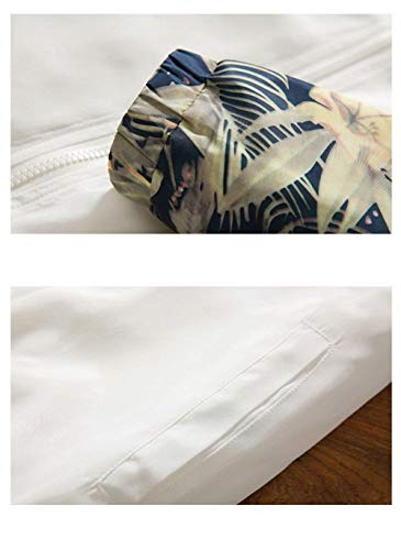 Hombre Running Cortavientos Deportiva Marca Manga De Chaqueta con Chaqueta con Camuflaje para Larga De Capucha De Outwear De De Sudadera Larga BOLAWOO Manga Blanco Mode Chaqueta Capucha EqwzXCC