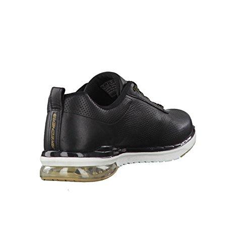 Damas Skechers 36 37 38 39 40 41 cuero negro intercambiable Negro / Dorado