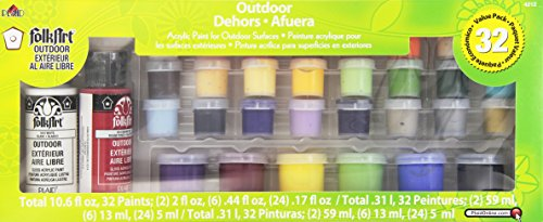 FolkArt Outdoor Acrylic Paint Set, 4212