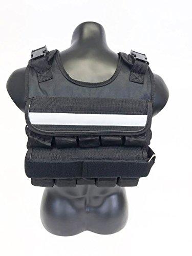 K2 Weighted Vest Short Narrow Style for Men 50lbs Adjustable Male Fitness Gear Black by k2elitevest (Image #3)