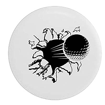 Pike Golf Ball Ripping Through Trailer RV Spare Tire Cover OEM Vinyl