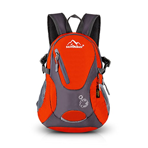 (Sunhiker Cycling Hiking Backpack Water Resistant Travel Backpack Lightweight Small Daypack M0714 (red))