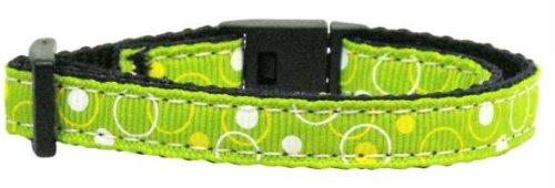 Retro Nylon Ribbon Collar Lime Green Cat Safety Case Pack 24 Retro Nylon Ribb...