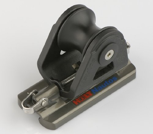 Nautos #91443-RECIRCULATING ROLLER BEARING GENOA CAR - DOUBLE LEAD- 22 MM (0.86