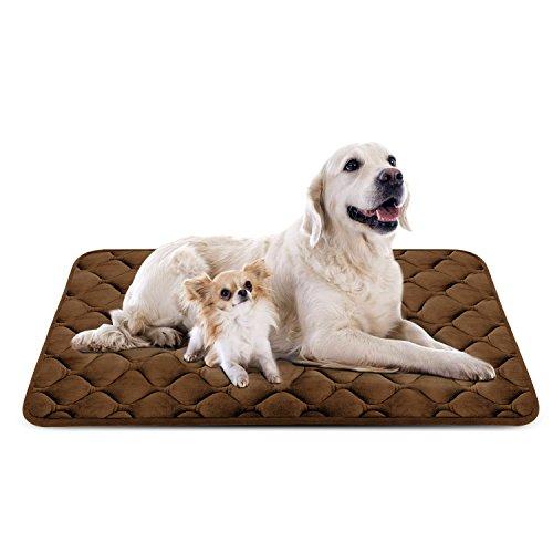 Hero Dog Cama Colchoneta Perro Grande Lavable, Cojines para Mascotas Antideslizante Vellón Almohadilla Suave 120x85 cm (Café XL): Amazon.es: Productos para ...