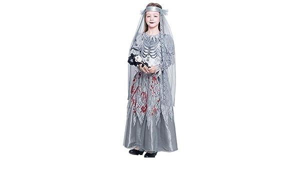 Disfraz Novia Cadáver Sangrienta para Niña Halloween (7-9 años) (+ ...