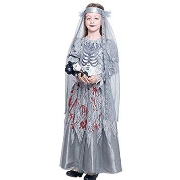 Disfraz Novia Cadáver Sangrienta para Niña Halloween (10-12 años ...