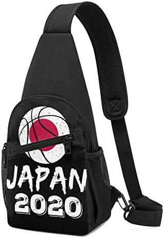 ボディバッグ ショルダーバッグ バスケットボール ジャパン 2020年東京オリンピック クロスボディバッグ 斜めがけバッグ 左右両掛け ワンショルダーバッグ ボディーバッグ メンズ 軽量 ポシェット 縦型 多機能 小物入れ 大容量 通勤 通学 レジャー