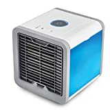 LIANGLIANG Air Conditioner Portable Purifier Add Water Refrigeration Mini Cooling Fan Mute Standing Mobile USB Interface Indoor Plastic,rated Power10W (Color : Blue white, Size : 16.516.521CM)