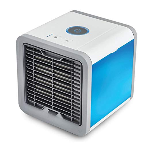 LIANGLIANG Air Conditioner Portable Purifier Add Water Refrigeration Mini Cooling Fan Mute Standing Mobile USB Interface Indoor Plastic,rated Power10W (Color : Blue white, Size : 16.516.521CM) by LIANGLIANG-kongtiao