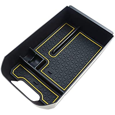 LFOTPP Armrest Center Console Organizer Tray Accessories Coin and Sunglasses Holder,Secondary Insert Storage Box for 2020 2020 RAV4 XA50 Orange: Automotive