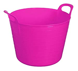 PINK 42L 42 Litre Large Flexi Tub Garden Flexible Colour