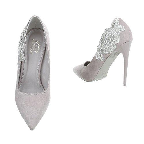 Femme Ital pour Design HS61 Grau Escarpins pWZ7qnW1