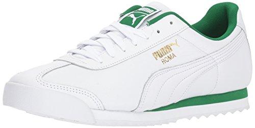 (PUMA Roma Classic Sneaker, White-Amazon Green, 7.5 M US)