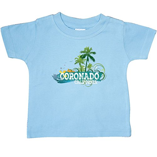 Coronado 12 Light (Inktastic - Coronado California CA Beach Baby T-Shirt 12 Months Light Blue)