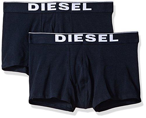 (Diesel Men's UMBX-Kory Twopack Boxer-Shorts, Blue, M)