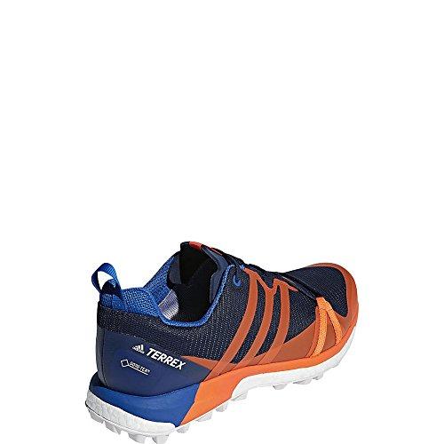 Adidas Outdoor Mens Scarpe Terrex Agravic Gtx Col. Bellezza Blu / Arancione / Blu