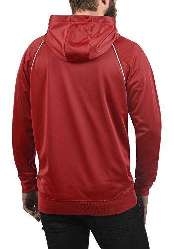 Cherry Polaire solid Sweat Pour Zippé Homme Éclair Avec En 0989 Veste À Doublure Fermeture Barbados Leandros Capuche Sweat shirt TwS7Tq