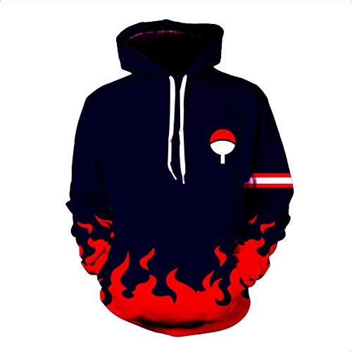 CHENMA Men Naruto 3D Print Pullover Hoodie Sweatshirt with Kangaroo Pocket (Color 23, Tag XXL/US XL) (Amazon By Clothing Mens Sold)
