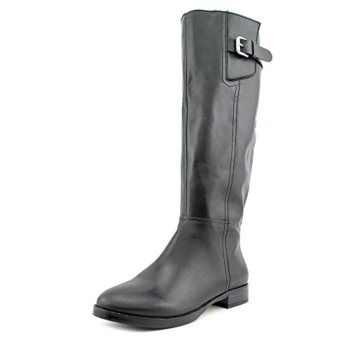 Inc International Concepts Mujeres Coco Cuero Almond Toe Mid-calf Moda Bo. Negro