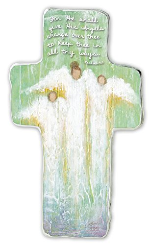 Cathedral Art SIM151 Guardian Angel Art Metal Cross, 6-Inch Guardian Angel Birthday