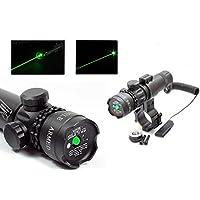 DOBO® Set Puntatore Laser di precisione fascio LED verde mira paintball caccia softair tiro mirino point Caccia fucile pistola completo Di Attacchi, Cordino Remoto, Batteria e Caricabatterie
