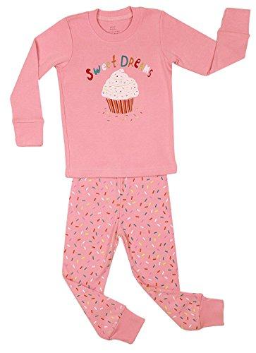Elowel Kid's Cupcake Pajama Set, Multi, 12-18 Months