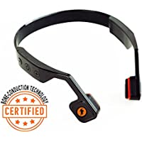 Bone Conduction Headphones ALL-Terrain Perfect for Working Out, Riding a Bike, Has Microphone, Wireless, Lightweight, and Portable Works with ALL Smartphones and Bluetooth Enabled Devices - Black