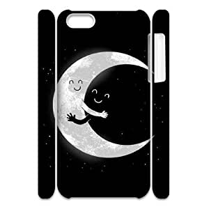 Cute Moon Custom 3D Case for Iphone 5C, 3D Personalized Cute Moon Case