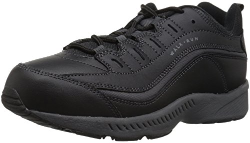 - Easy Spirit Women's Romy Black Leather Athletics 8 B(M) US