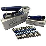 Cabelcon SET bestehend aus Kompressionszange CX3 Pocket Tool + Cablestripper RG6/59 mit Maulschlüssel + 20 Stück Kompressions-Stecker F-56-CX3 5.1 HQ