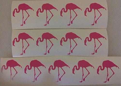 50 x pink flamingo stickers for children lots of fun bird Africa savannah