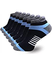 Men's Ankle Low Cut Athletic Performance Comfort No Show Running Cushion Socks Tab L and XXL