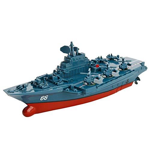 YRE Barco de Juguete teledirigido del Agua del Portador de avión, Speedboat Modelo Exquisito Militar, Conveniente para de...