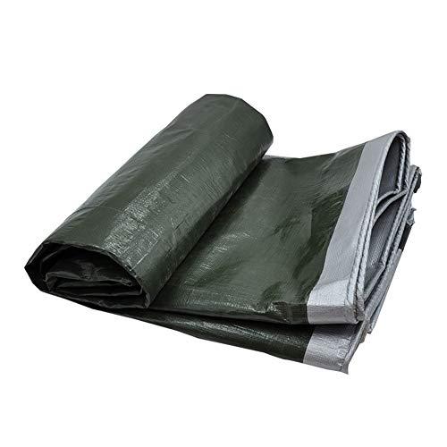 グレー極地ライナーQIANGDA トラックシート荷台カバー日焼け止め ターポリン 折りたたみが簡単 アンチエイジング (180g / m2)のさまざまなサイズ (色 : アーミーグリーン, サイズ さいず : 5.8 x 5.8m)