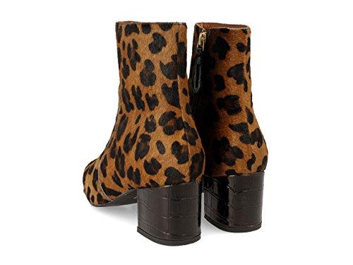 Gioseppo 30551, Botas Para Mujer Marrón (Leopardo)