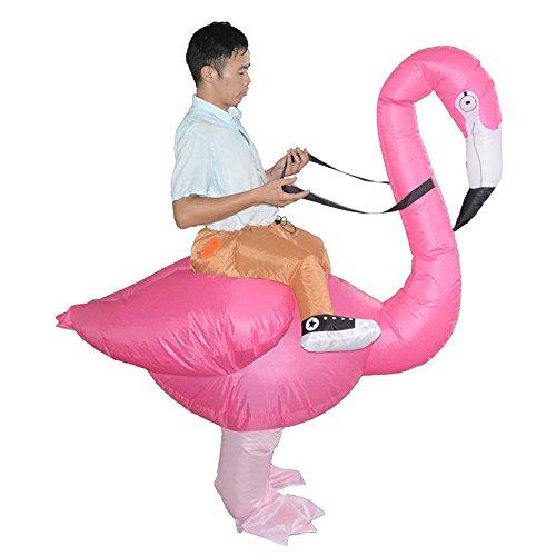 Piggyback Costumes Ride On Flamingo Costume - Riding Shoulder Costume (Piggyback Fancy Dress Costume)